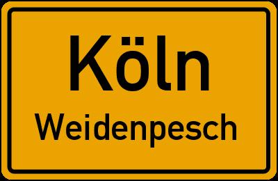 Straßenverzeichnis Köln Weidenpesch