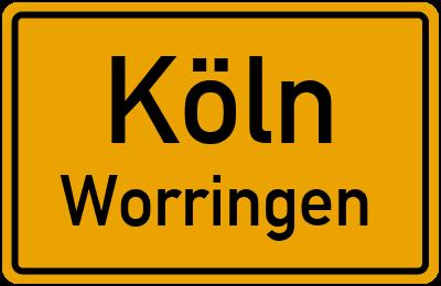 Straßenverzeichnis Köln Worringen