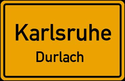 Ortsschild Karlsruhe Durlach