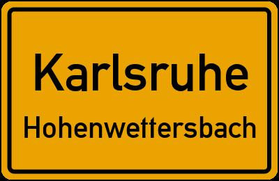 Ortsschild Karlsruhe Hohenwettersbach