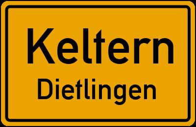 Amselweg in KelternDietlingen