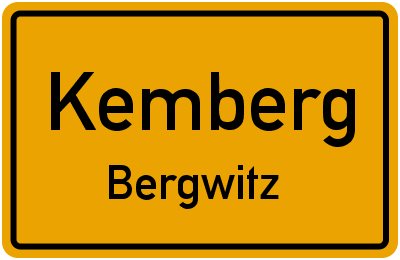 Bahnhofstraße in KembergBergwitz