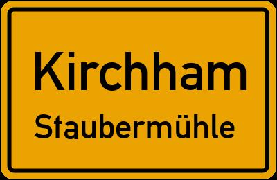 Ortsschild Kirchham Staubermühle