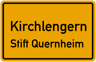Ortsschild Kirchlengern Stift Quernheim
