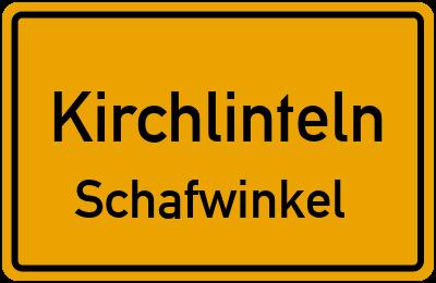 Ortsschild Kirchlinteln Schafwinkel