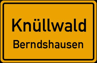 Ortsschild Knüllwald Berndshausen