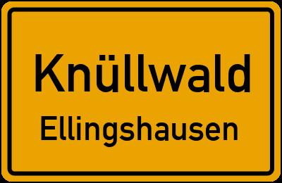 Ortsschild Knüllwald Ellingshausen