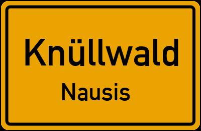 Ortsschild Knüllwald Nausis