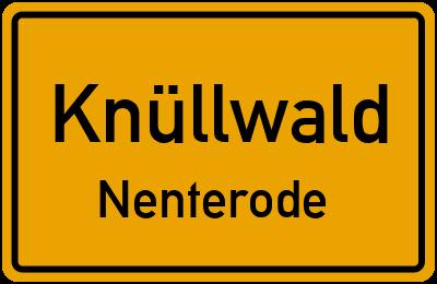 Ortsschild Knüllwald Nenterode