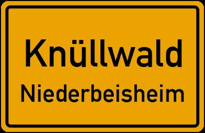 Ortsschild Knüllwald Niederbeisheim