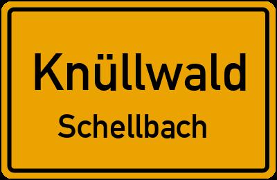 Ortsschild Knüllwald Schellbach