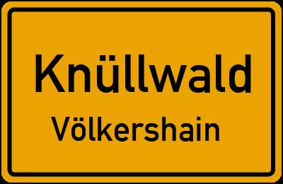Ortsschild Knüllwald Völkershain