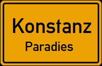 Ortsschild Konstanz Paradies