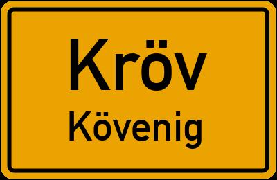 Ortsschild Kröv Kövenig