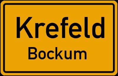 Ortsschild Krefeld Bockum
