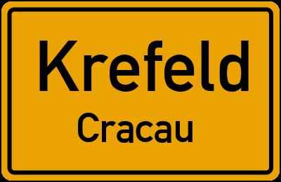 Ortsschild Krefeld Cracau