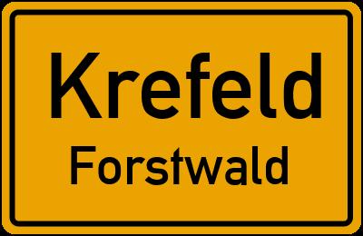 Ortsschild Krefeld Forstwald