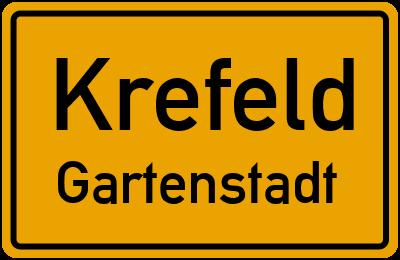 Ortsschild Krefeld Gartenstadt
