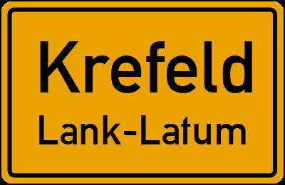 Ortsschild Krefeld Lank-Latum