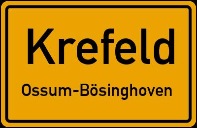 Ortsschild Krefeld Ossum-Bösinghoven