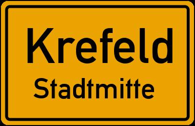 Ortsschild Krefeld Stadtmitte
