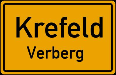 Ortsschild Krefeld Verberg