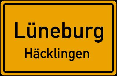 Ortsschild Lüneburg Häcklingen
