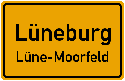 Ortsschild Lüneburg Lüne-Moorfeld