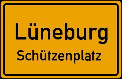 Ortsschild Lüneburg Schützenplatz