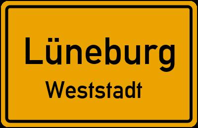 Ortsschild Lüneburg Weststadt