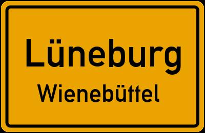 Ortsschild Lüneburg Wienebüttel