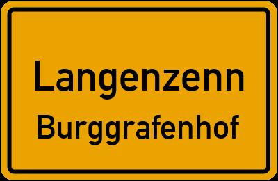 Ortsschild Langenzenn Burggrafenhof