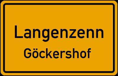 Ortsschild Langenzenn Göckershof