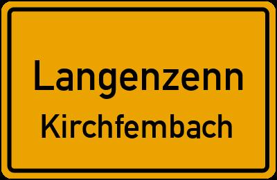 Ortsschild Langenzenn Kirchfembach