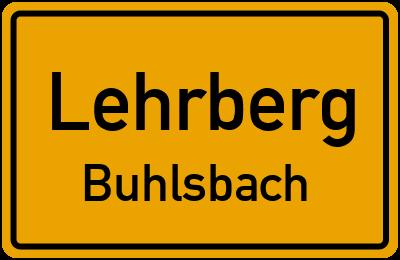 Ortsschild Lehrberg Buhlsbach