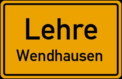 Ortsschild Lehre Wendhausen