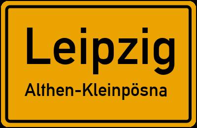 Straßenverzeichnis Leipzig Althen-Kleinpösna