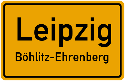 Ortsschild Leipzig Böhlitz-Ehrenberg