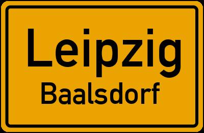 Ortsschild Leipzig Baalsdorf