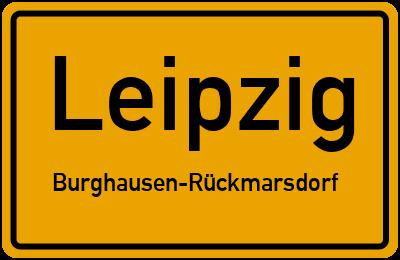 Ortsschild Leipzig Burghausen-Rückmarsdorf