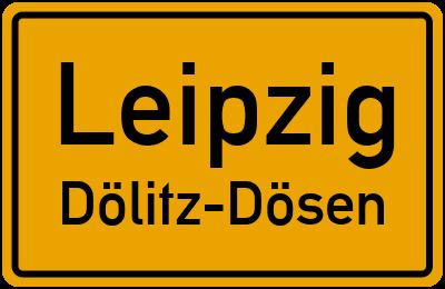 Ortsschild Leipzig Dölitz-Dösen