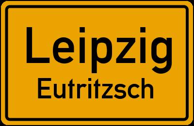 Ortsschild Leipzig Eutritzsch