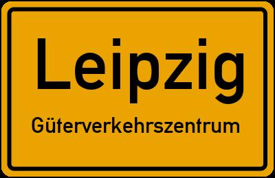 Ortsschild Leipzig Güterverkehrszentrum