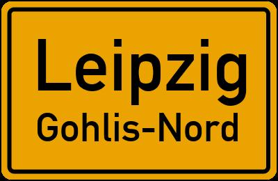 Ortsschild Leipzig Gohlis-Nord