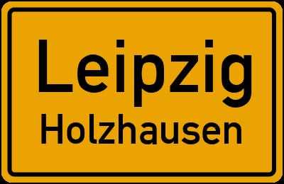Ortsschild Leipzig Holzhausen
