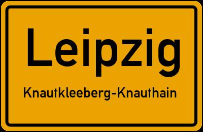 Ortsschild Leipzig Knautkleeberg-Knauthain