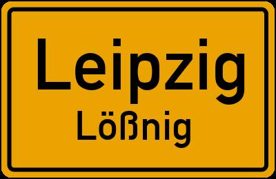 Ortsschild Leipzig Lößnig