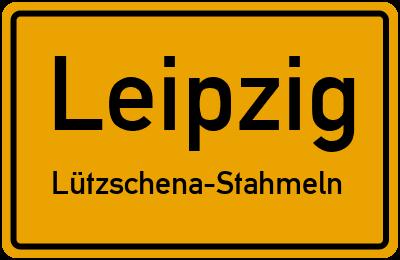 Ortsschild Leipzig Lützschena-Stahmeln