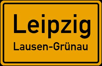 Straße am See in LeipzigLausen-Grünau