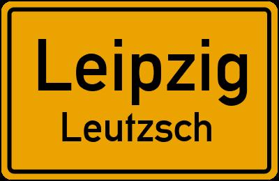 Ortsschild Leipzig Leutzsch